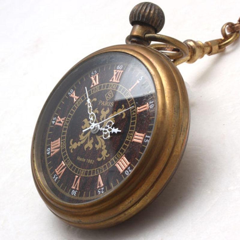 0e24240bae4 Atacado 1882 PARIS Caso Bronze Antique Mecânica Pocket Watch freeship em  Relógios de bolso   Fob de Relógios no AliExpress.com