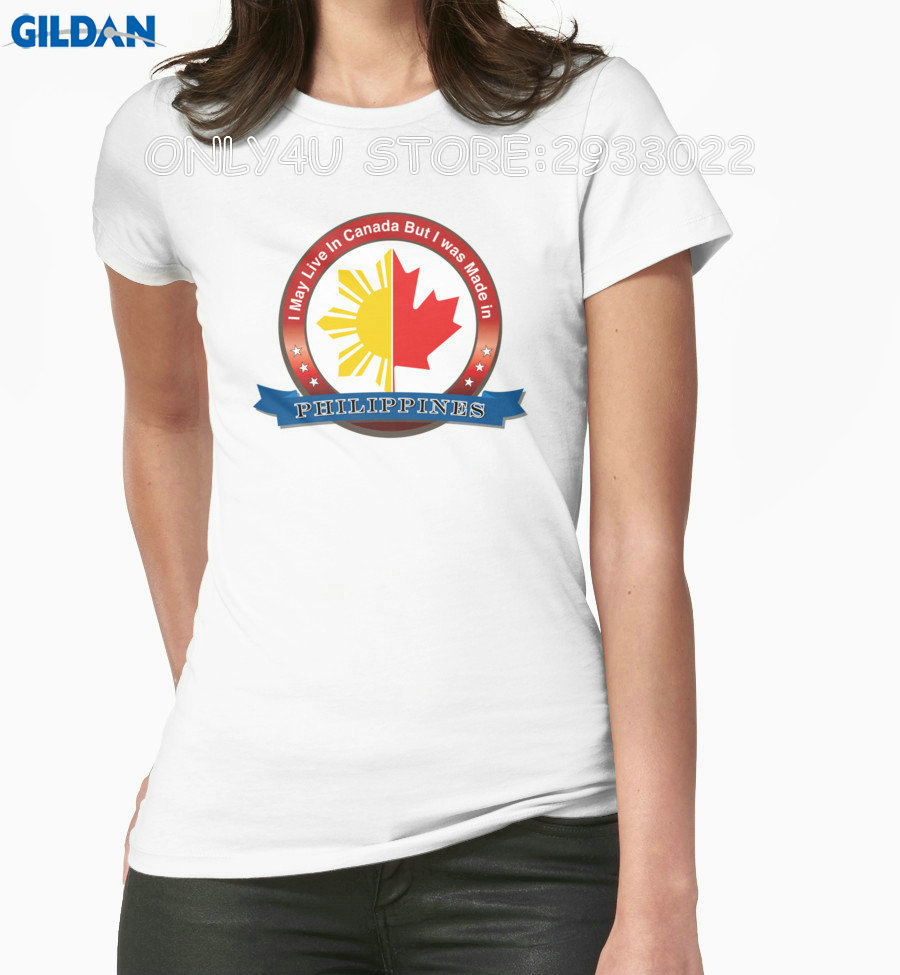Design tshirt online canada - Gildan Only4u T Shirt Designer Women S I May Live In Canada But I Was Born In