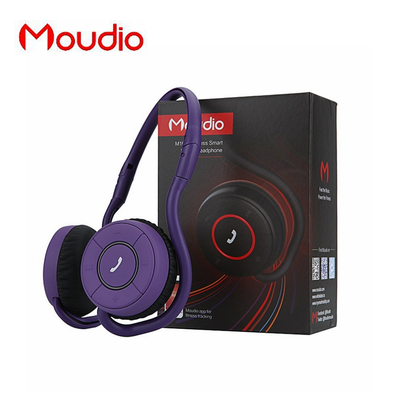 Moudio Original Wireless Sports Pocketable Headphones Runnning Bluetooth Stereo Music Earphone For Xiaomi Meizu Mobile Phone