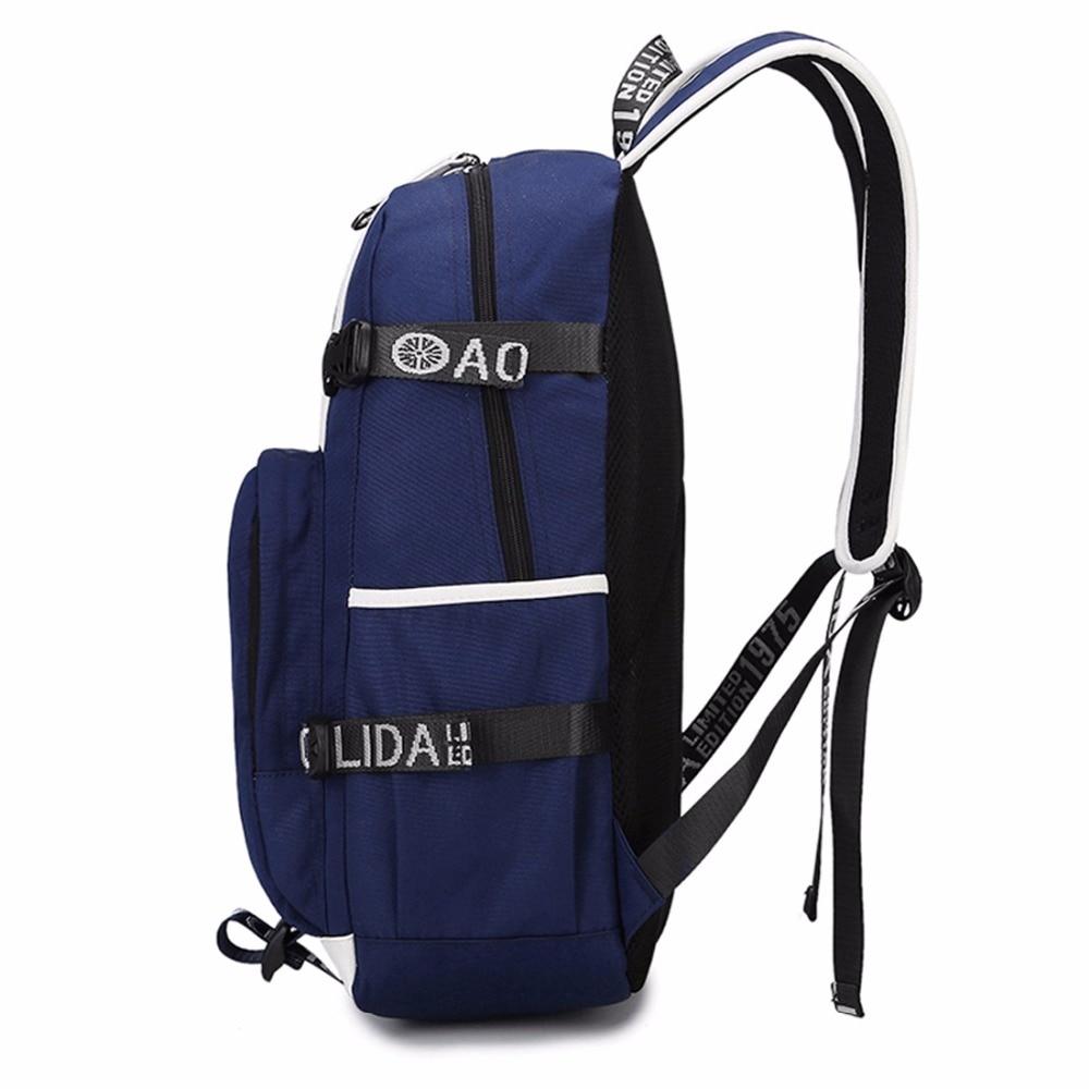 Wishot  Backpack Teenagers Men Women's Student School Bags Travel Shoulder Laptop Bags  Multifunction Usb Charging #4