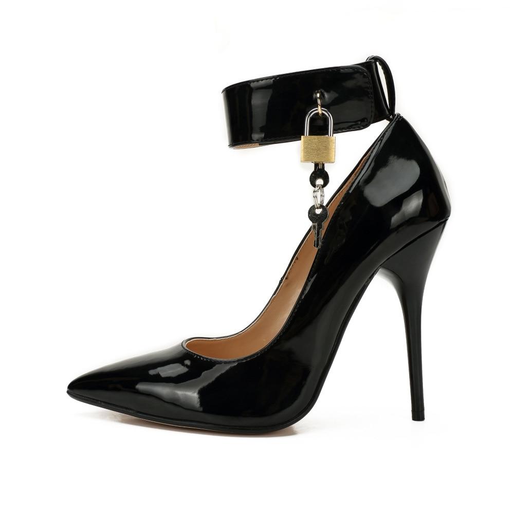 Heel Cm Bout De Cadenas Talon 48 12cm Couture Sexy Taille heel Grande Pour Pointu Chaussures Talons 12 Pompes Mode 16cm Hauts Mince Femmes zqHwvdz