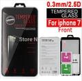 100 unids/lote nuevo para iphone 7 templado protector de pantalla de cristal para iphone 7 paquete al por menor disponible