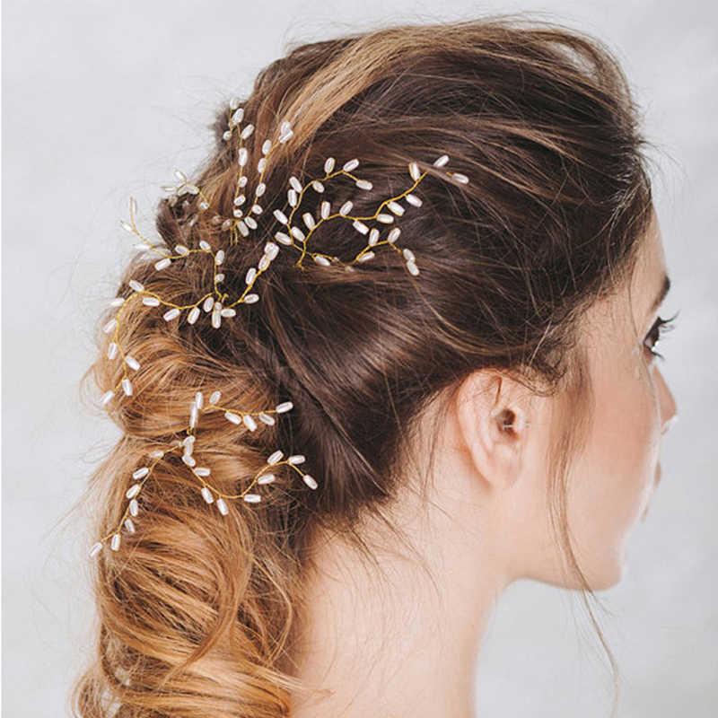 3pcs สีเพิร์ลเจ้าสาว Hairpins สำหรับผมผู้หญิงเครื่องประดับผมติด PIN งานแต่งงานอุปกรณ์เสริมผมหัวเครื่องประดับ Headwear