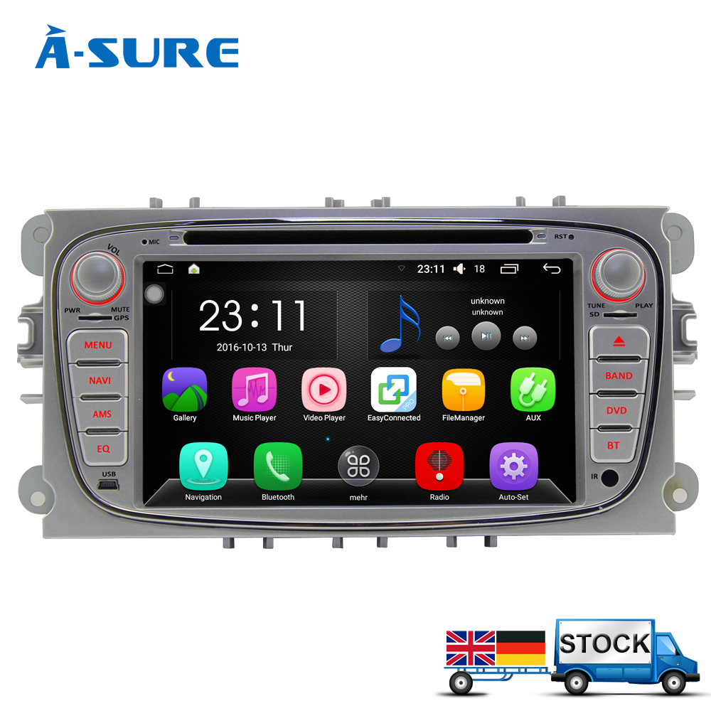 a sure android 6 0 gps navi for ford mondeo focus c max. Black Bedroom Furniture Sets. Home Design Ideas