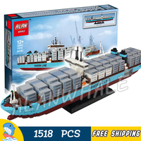 1518 шт. Creator Expert Maersk Line Triple E Freighter грузовой корабль 22002 модель строительные блоки игрушки Кирпичи, совместимые с Lego