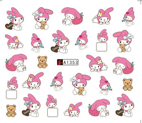 12 Sheets Lot Nail A1345 1356 Cartoon En Mymelody Art Water Wraps Sticker Decal For Designs In 1 Stickers Decals From Beauty