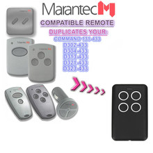2ocs Marantec Garage Transmitter Fixed Code Remote Control D302 D304 433MHz 868MHz Clone, remote control free shipping(China)