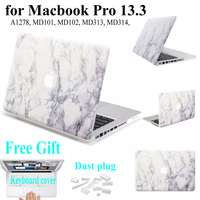 Full Protective For Coque Macbook Pro 13 Marble Painting Hard PC Sleeve Cover For Mac Pro