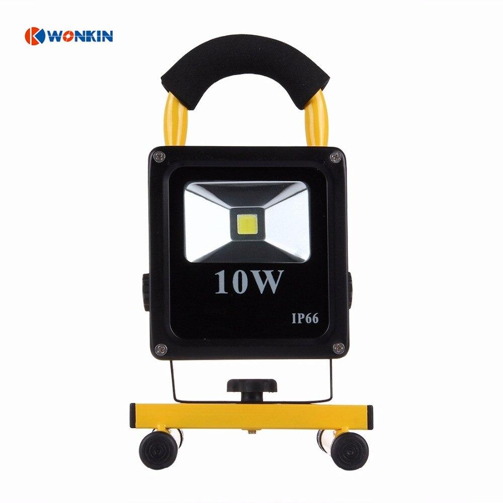 10W rechargeable led floodlight slim IP66 Waterproof portable lantern LED Spotlight Outdoor Wall Lighting Ultrathin brightness