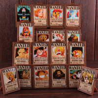Hot Toy Anime One Piece Figure Luffy Nami Zoro Sanji Chopper Wanted Posters Photo Frame Action Collectible Toy 18pcs/set