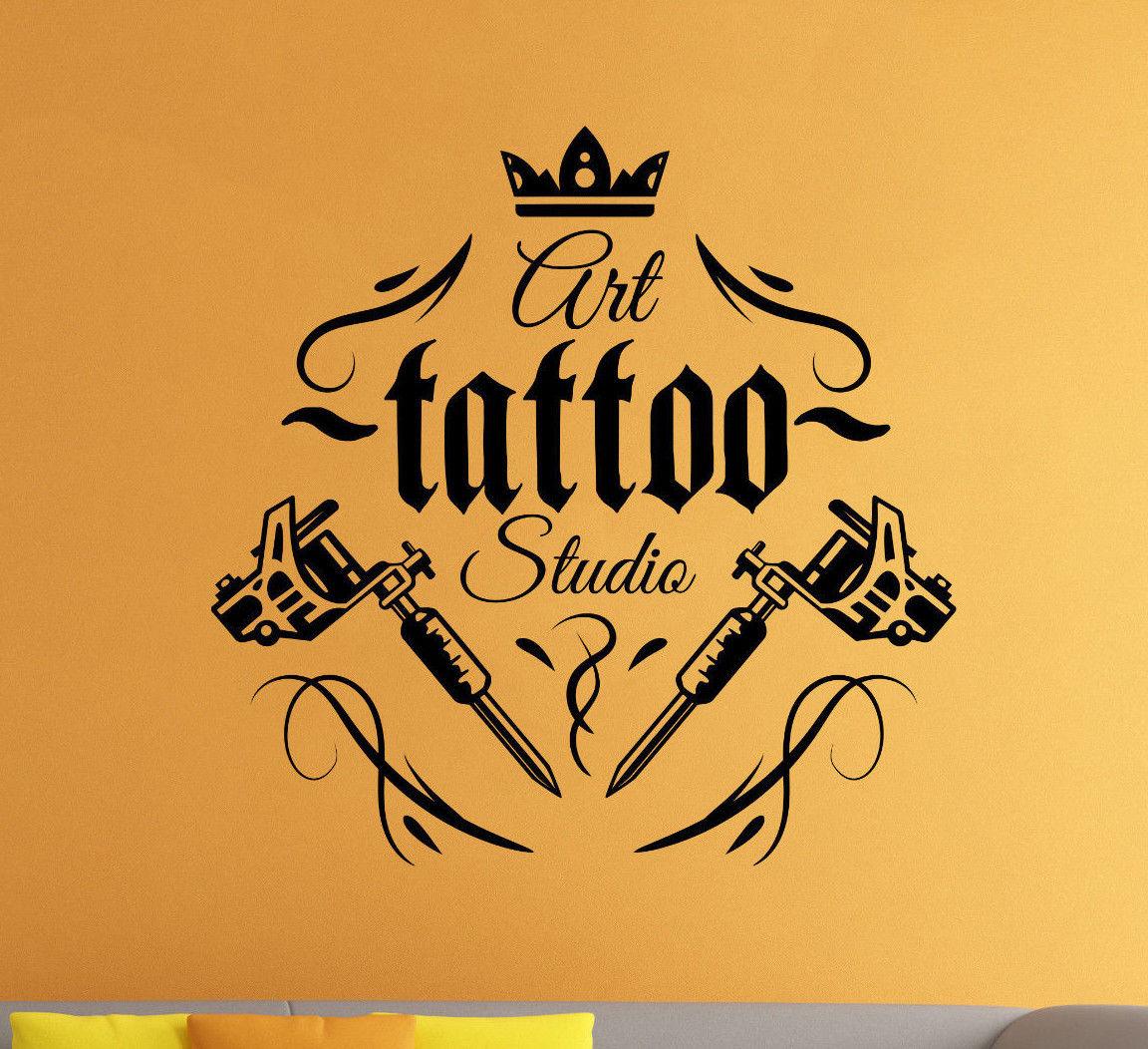 Tattoo Shop Logo Vinyl Decal Tattoo Salon Parlor Wall Sticker Wall ...