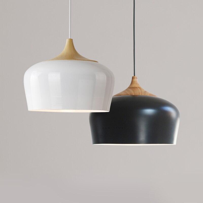 Nordic Vintage Pendant Light,White Black Dia 30cm Wood&Aluminum Lampshade Hanging Lamp For Dining/Living Room Lighting FixtureNordic Vintage Pendant Light,White Black Dia 30cm Wood&Aluminum Lampshade Hanging Lamp For Dining/Living Room Lighting Fixture