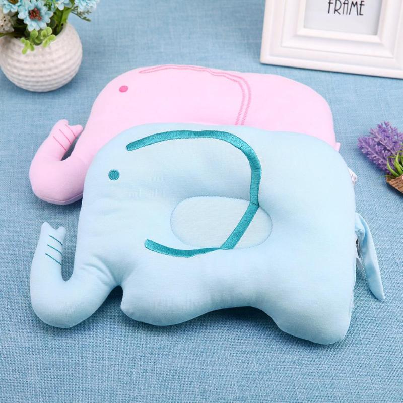 Baby Shaping Pillow Cartoon Elephant Prevent Flat Head Sleeping Positioner Soft Support Cushion Baby Room Decoration
