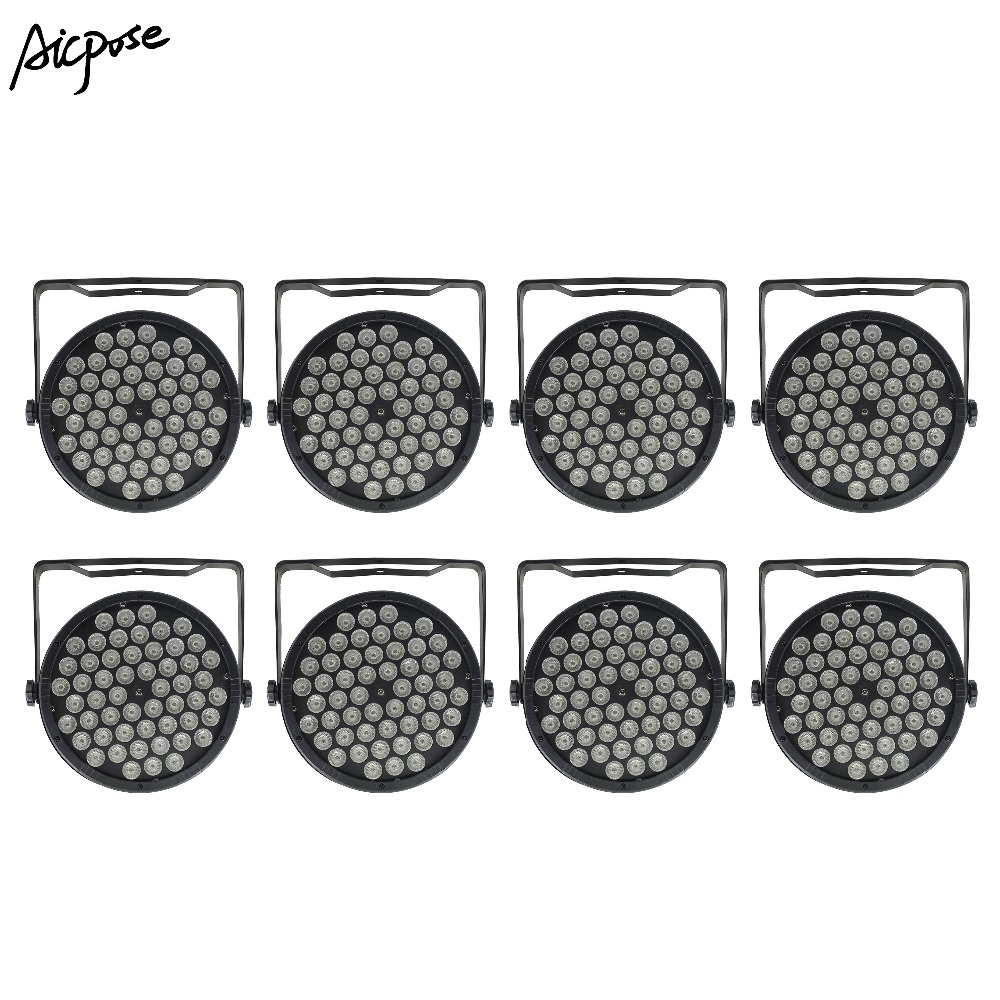 8pcs/lots 54x3W 3 In 1 Led Par Lights Par LED 54*3w RGB 3in1 Wall Washer Disco Light With DMX512 Control Effect Stage Light