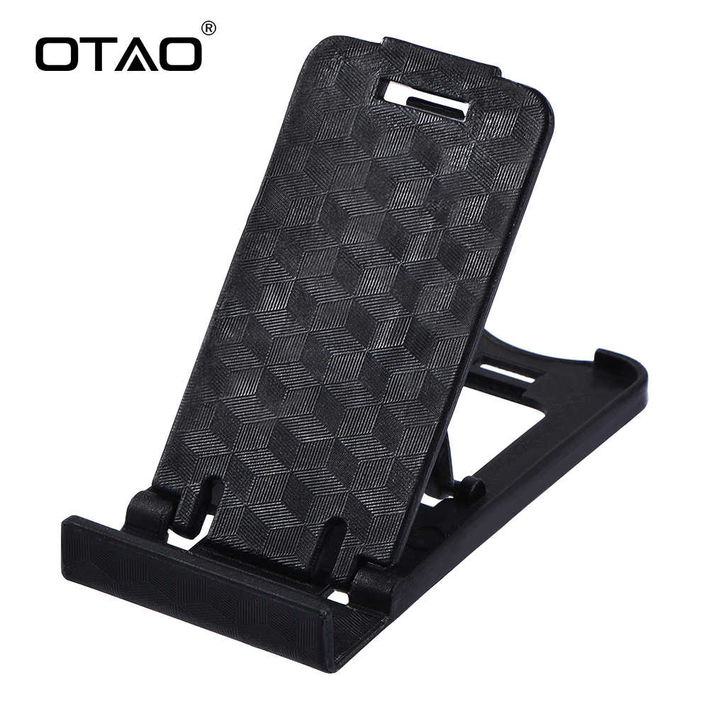 OTAO Mini Mobile Phone Holder 3D Man Portable Adjustable Universal Foldable  Phone Stander For iPhone For Samsung For All Phones