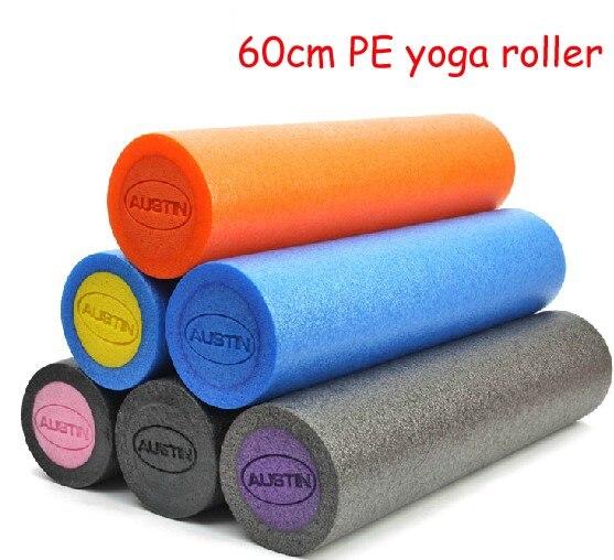 Blocs d'entraînement environnementaux de yoga de longueur de PE 60 cm 24 pouces rouleau Pilates arbre mousse gym exercice Fitness d'intérieur lavable unisexe
