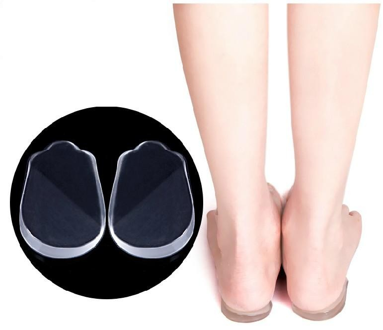 все цены на Pronation orthotic silicone gel heel cushion insole O&L leg foot care shoes pad feet sole New man and women free shipping