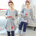 Every day special pregnant women spring and autumn warm home clothing & maternity pajamas suit large size XL