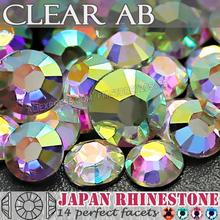 Clear AB SS12 SS16 SS20 SS30 SS40 Nail Art Rhinestone Resin Non Hot Fix Flat Back Crystals stone for DIY Nails Glitters