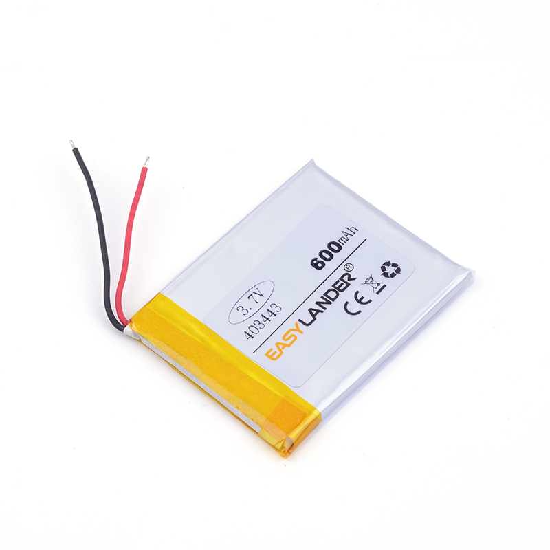 3.7v lithium ion rechargeable battery 403443 600MAH For Mp3 MP4 MP5 GPS PSP mobile bluetooth Watch PDA 043443