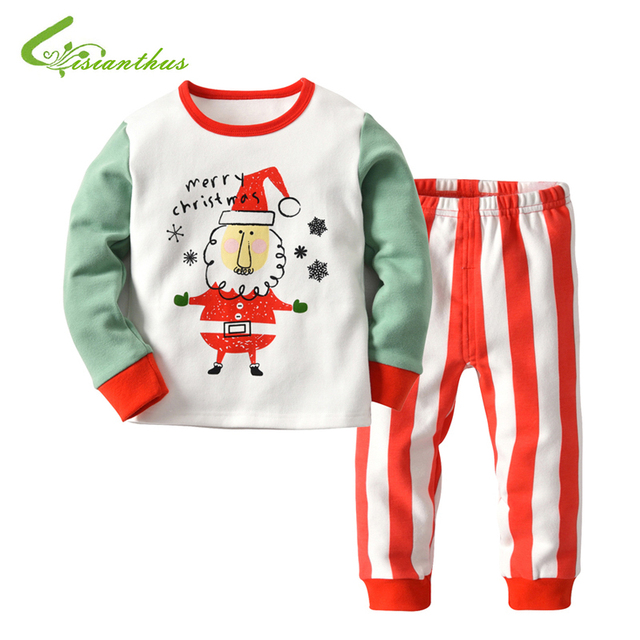 1e8a4baa6 Christmas Pajama Sets 2pcs Children Boys Girls Clothing Sets Cartoon ...