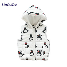 newborn Autumn Vests Jacket Kid Clothes Character Fashion Children Clothing Hooded Waistcoats Casual Baby Girls Vest Coats gilet