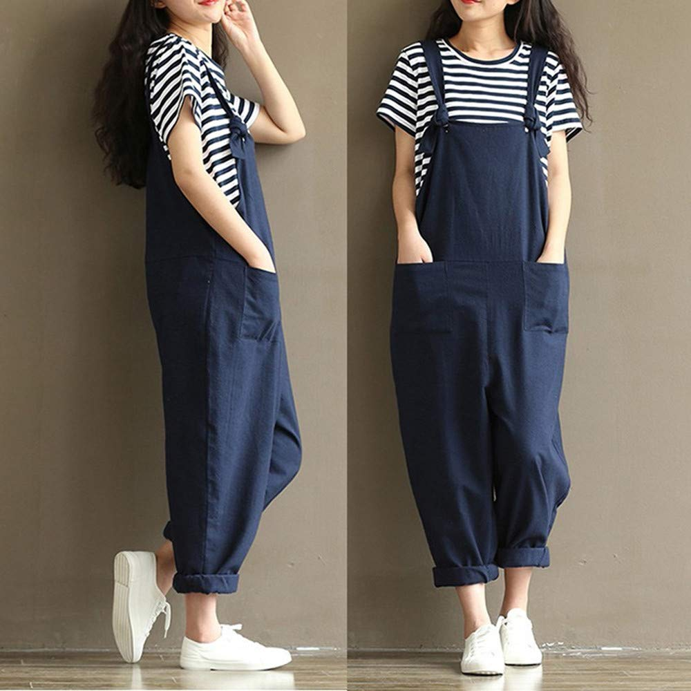 Pregnant Women 39 s Casual Jumpsuits Overalls Baggy Bib Pants Plus Size Wide Leg Rompers in Pants amp Capris from Mother amp Kids