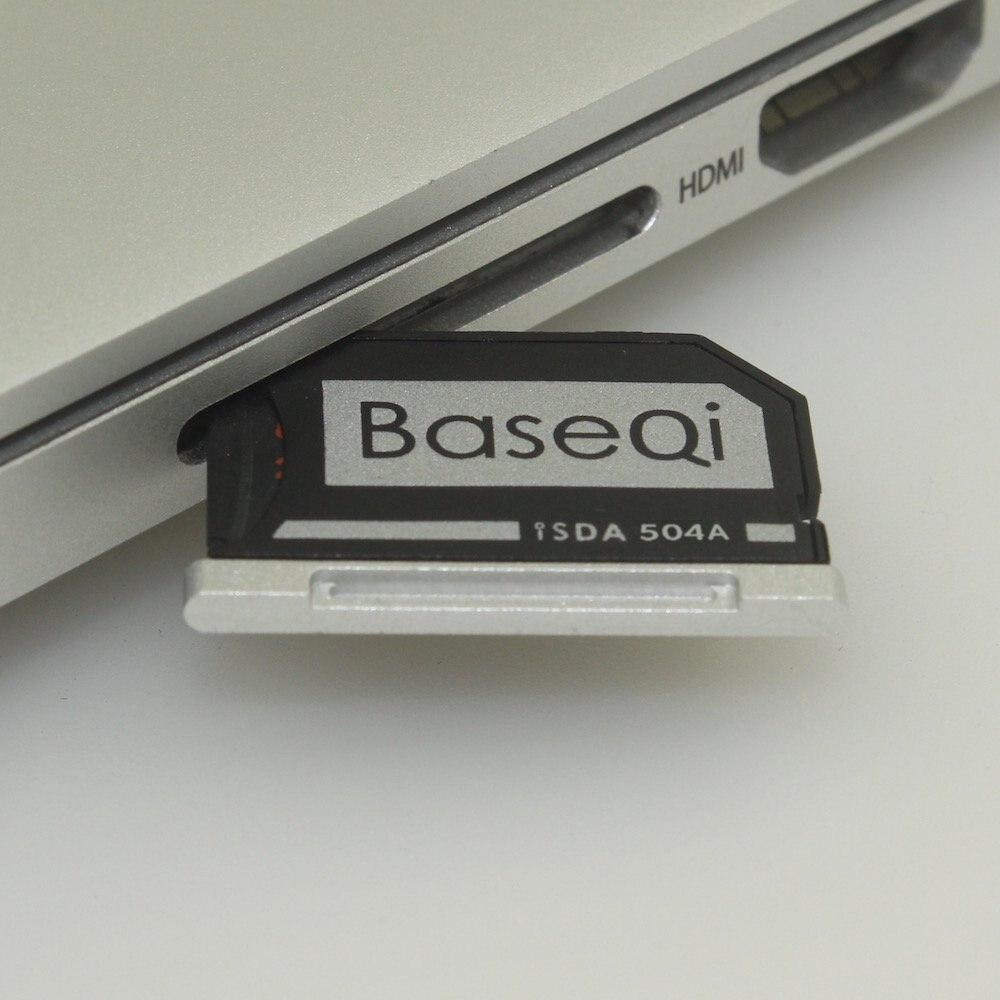 504A Original BASEQI Aluminio MiniDrive Adaptador De Tarjeta Micro SD Lector De Tarjetas Para Macbook Pro Retina 15 ''modelo De Tarde 2013/después