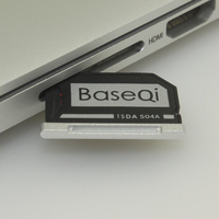Venta 504A Original BASEQI aluminio MiniDrive adaptador de tarjeta Micro SD lector de tarjetas para Macbook Pro Retina 15 ''modelo tardío 2013/después