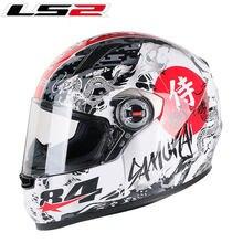 Nuovo LS2 FF358 samurai Pieno Viso casco del motociclo di alta qualità originale LS2 caschi moto da corsa su strada capacete ls2