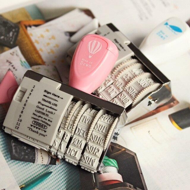 Cute Roller Stamps DIY Words and Date Scrapbooking stamp vintage zakka carimbo  de scrapbook deco material school supplies 6472