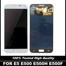 100% ทดสอบ E500 LCD สำหรับ Samsung Galaxy E5 E500 E500F E500H E500M โทรศัพท์หน้าจอ Lcd Digitizer Touch Assembly Replacement(China)