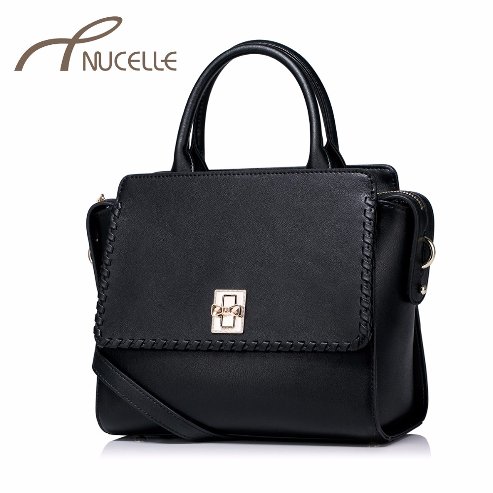 Nucelle Women Split Leather Handbag Fashion Ladies Knitting Wings Leather Tote Messenger Purse Female Corssbody Bags NZ4937 nucelle women split leather messenger bags ladies fashion chain mini cross body bags female flap shoulder bags for phone nz5902