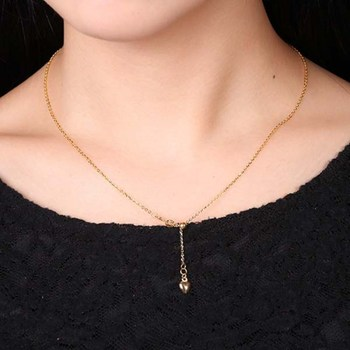 New Au750 Pure 18K Yellow Gold Chain Women O Link Necklace Adjustable 18inch 2