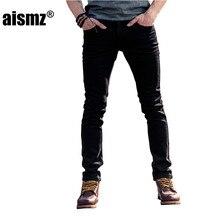 Aismz Men's Jeans 2017 New Denim Men Slim Fit Strech Jeans For Man Long Trouser Pants Clothing Brand Size 27-36  60038
