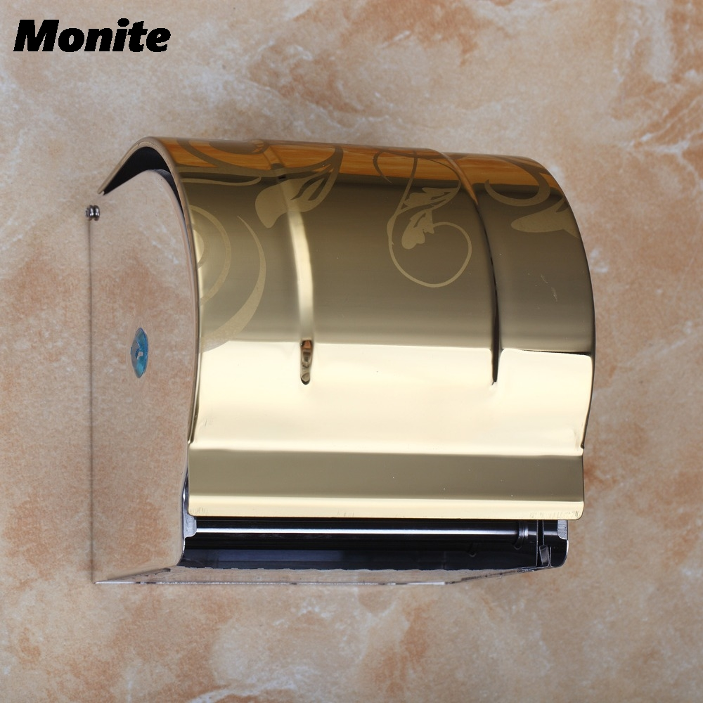 Paper Holder Wall Mounted Toilet Paper Holder Luxury Roll Toilet Paper Roll Holder Bathroom Accessor