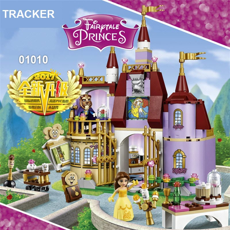 2017 TRACKER Dream Princess Belle's Enchanted Castle Building Blocks Beauty and the Beast Figures Bricks Toys For Children 01010 judith dean aladdin and the enchanted lamp