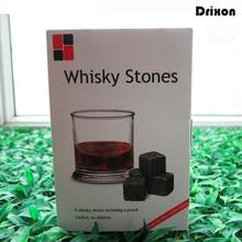 Drixon 6 Colores Regalo de Navidad de Piedras del Whisky en CAJA de REGALO DELICADA Whisky Vino Cubo de Hielo de la Roca del Whisky de Piedra Decoración de La Boda