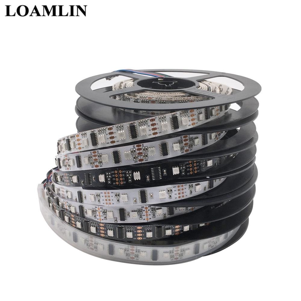 LPD8806 5050 RGB Strip  DC5V 32/48/52/60Leds/m Led Pixel Strip Light 1m/5m   (1 IC - 2 Chip) LED Pixel Digital Strip