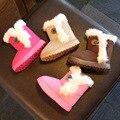 Tamaño 21-35//2016 nuevo zapatillas impermeables botas martin nieve botas de goma niños girls & boys invierno para zapatos de los niños