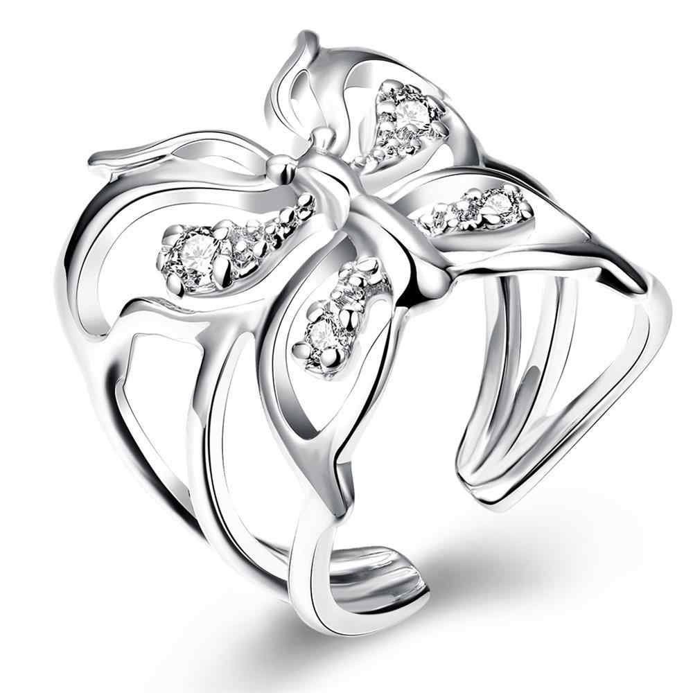 Open Butterfly Ring Zircon 925 Sterling Silver Rings For Women Jewelry jewellery Anel Anillos Aneis Bague Anelli LOVE GIFT