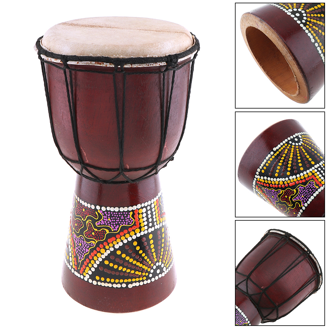 Sale 6 Inch Professional African Djembe Drum Classic Painting Wood Goat Skin Good Sound Musical Instrument