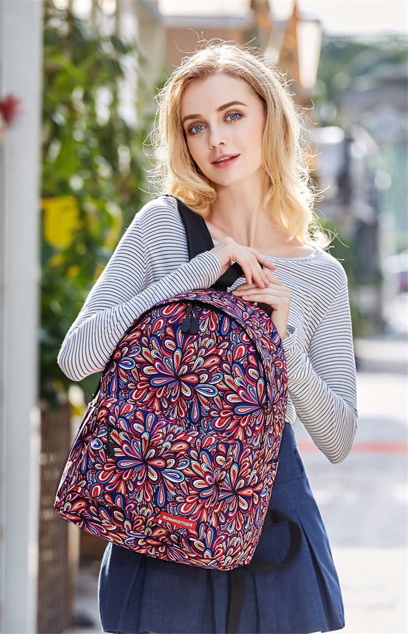 nova marca mulheres impressão mochila Backpack Usage : Daily Backpack/fashion Backpack/bagpack