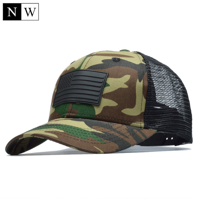 1d951fe6 [NORTHWOOD] Camo Mesh Baseball Cap Men Camouflage Bone Masculino Summer Hat  Men Army Cap Trucker Snapback Hip Hop Dad Hat