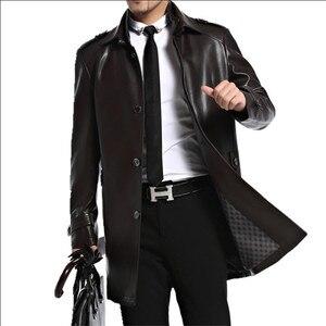 Image 3 - ชายเสื้อหนัง Faux PU Sheepskin ชาย Outwear แจ็คเก็ตฤดูใบไม้ร่วงเสื้อลำลองแฟชั่นชายยาว Man ปลอมแจ็คเก็ตหนัง A2552