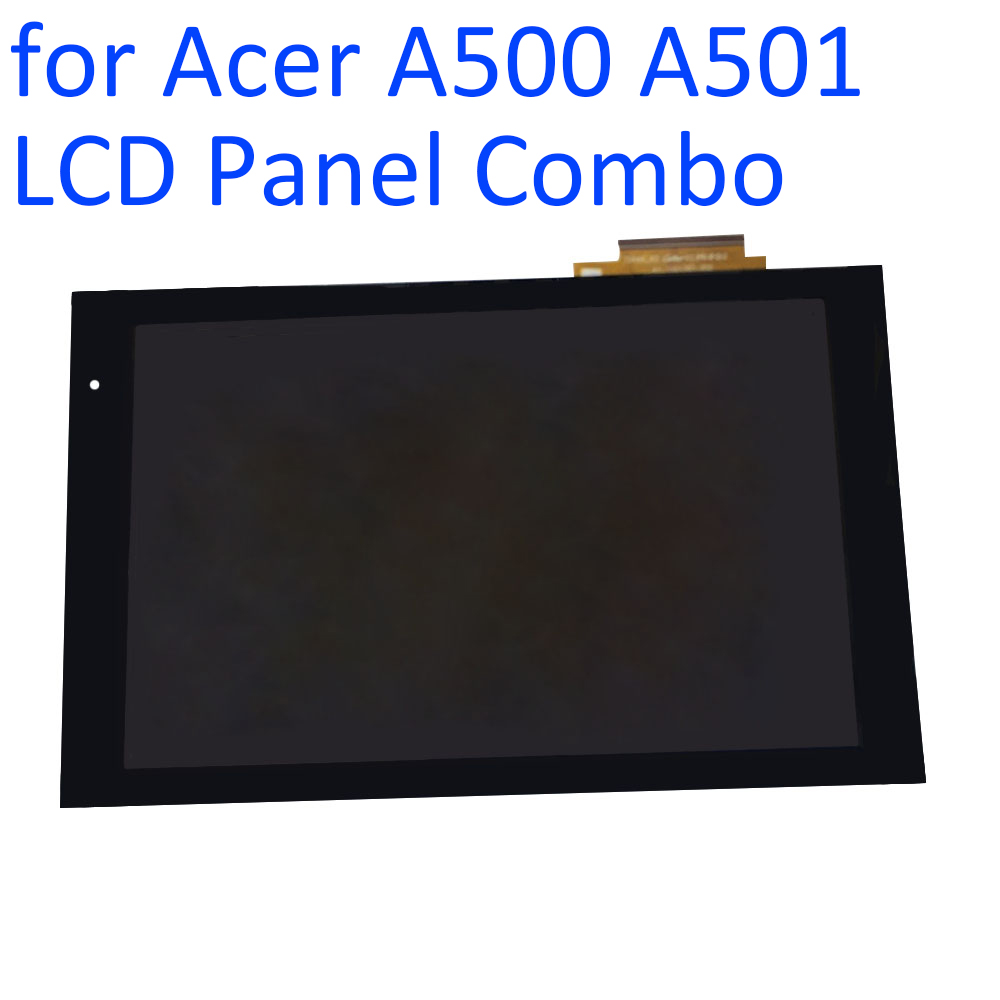 ALANGDUO for Acer iConia Tab A500 A501 LCD Display with Touch Screen Digitizer Glass Panel Front Touchscreen Replacement Glass original new 10 1 inch touch panel for acer iconia tab a200 tablet pc touch screen digitizer glass panel free shipping