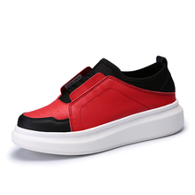 Korean Student leisure Shoes Breathable Women's 2017 New Heavy Bottom red black Leisure Shoes Slip On trainers chaussure femme