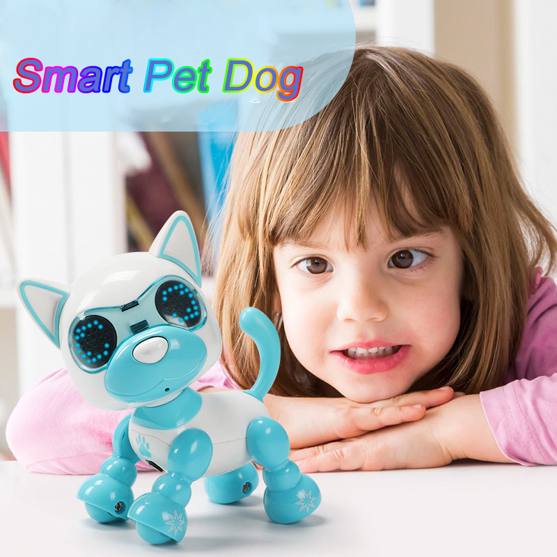Kids Children Cute Robotic Walking Pet Dog Baby Puppy Interactive Smart LED Eyes Sound Recording Sing Toy Gift