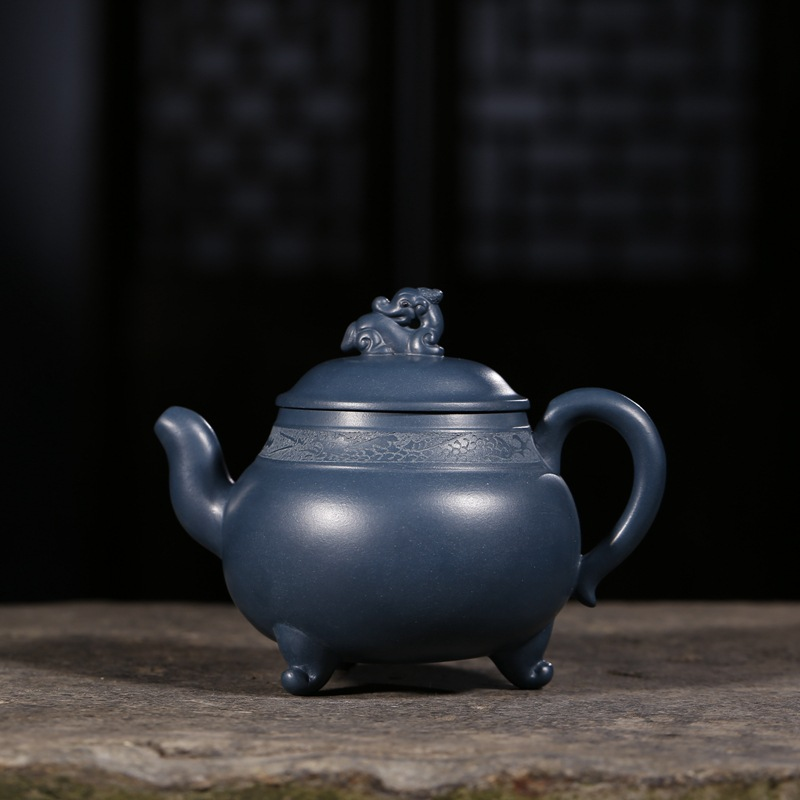 330ML Authentic Yixing Zi Sha Ceramic Chinese Kung Fu Tea Pot Handmade Purple Clay Vintage  Teapot Hotel Oolong Tea Kettle Gift330ML Authentic Yixing Zi Sha Ceramic Chinese Kung Fu Tea Pot Handmade Purple Clay Vintage  Teapot Hotel Oolong Tea Kettle Gift