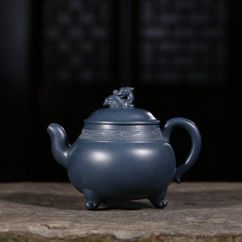 330ML Authentic Yixing Zi Sha Ceramic Chinese Kung Fu Tea Pot Handmade Purple Clay Vintage  Teapot Hotel Oolong Tea Kettle Gift
